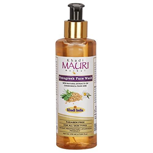 Khadi Mauri Herbal Fenugreek (Methi) Face Wash – Anti Pigmentation – Herbal and Ayurvedic – 210 ml