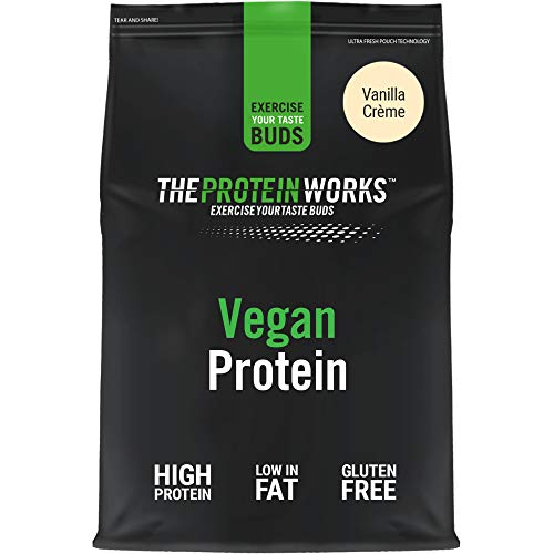 Vegan Protein Powder | 100% Plant-Based & Natural | Gluten-Free | Zero Cruelty | Low Fat Shake | THE PROTEIN WORKS | Vanilla Crème | 500 g
