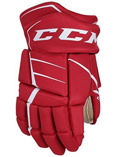 Handschuhe CCM Jetspeed FT350 SR, 13 Zoll, Rot/Weiss