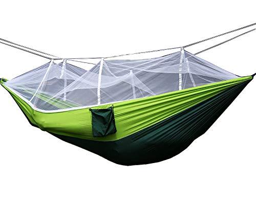 FixtureDisplays Portable Hammock Jungle Camping with Mosquito Net Outdoor Hanging Sleeping Bed 16117