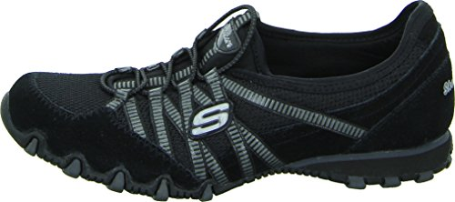 Skechers Bikers Hot-Ticket, Damen Sneakers, Schwarz (BKCC), 38 EU - 2