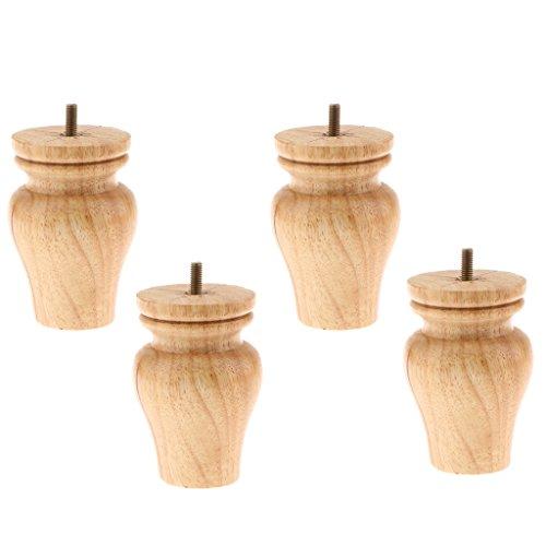 4pcs Holz Möbelfüße, Wohnzimmer Sofa Dekor - Holz, 7cm Durchmesser