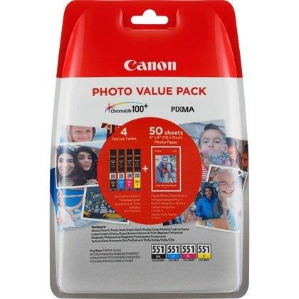 Canon Original Value Pack cartucce d' inchiostro con carta fotografica CLI-551 + PP-201