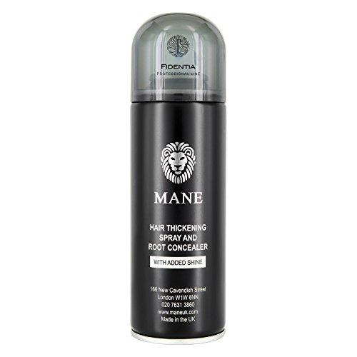 MANE HAARAUFFÜLLER SPRAY | zur Haarverdichtung und Ansatzkaschierung | 200ml, Schwarz - Black