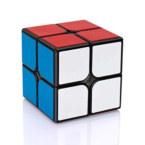 Findbetter 2RS スピードキューブ 2x2 競技向け 公式 ver.2.1 黒素体 世界基準配色 PVCシール こども 脳ト...