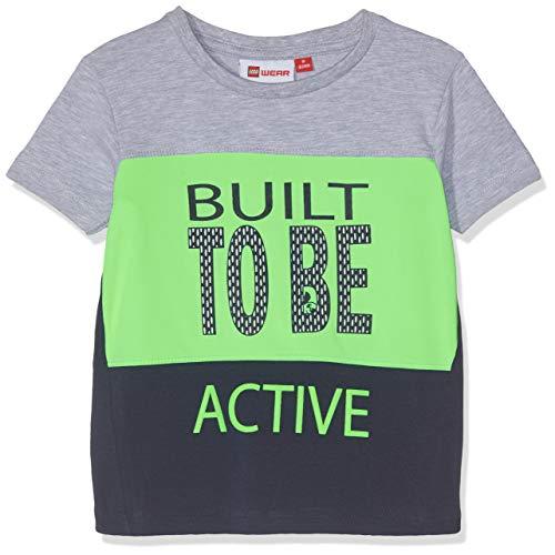 Lego Wear Baby - Jungen DUPLO Boy Terrence 321 - T-Shirt T-Shirt, per Pack Mehrfarbig (Grey Melange 912), 104 (Herstellergröße: 104)