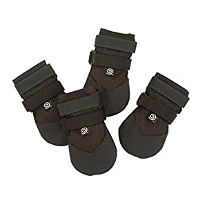 Ultra Paws Light Duty, Durable Heavy Duty, Hot Weather Dog Boots for Small, Medium and Large Dogs (6 – Medium, Black – Light Duty)