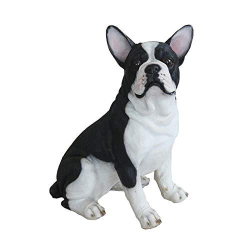 WMHF Estatua Resina Adornos Simulación De Adornos para Perros Modelo Animal Escultura De Bulldog Francés Sala De Estar En Casa Gabinete De TV Gabinete De Vino Método Artesanía De Cubo