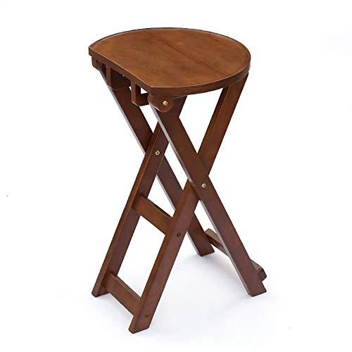 7 Stuhl Barhocker Hoher Hocker, Faltbarer Holzsitz Regal Tragbare Einfache Bar Frühstück Cafe Küche Home Stuhl mit Rückenlehnen Armlehnen und Fußstützen (Farbe: Kaffee Farbe)