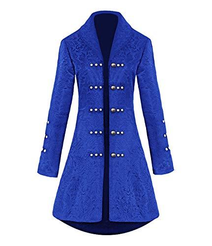 Donne Steampunk Cappotti - Moda Maniche Lunghe Giacche retrò Medievale Gotico Vittoriana Stile Cappotto Costume