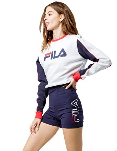 Fila Beatriz High-Waist Bike Shorts Peacoat/White/Chinese Red XS