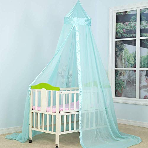 Kids Baby Crib Tenten Bed Curtain Dome Klamboe Hangende tenten Kinderen Kamer, insect netten Protection, Blue, 1020 * 230 * 56cm QIANGQIANG (Color : Blue, Size : 1020 * 230 * 56CM)