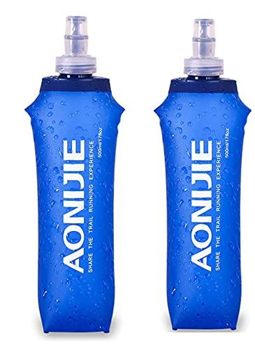 250ml/450ml/500ml Soft Flask Botella de Agua Plegable Suave Matraz sin BPA para Correr Ciclismo Senderismo
