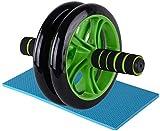 WENJZJ abdominales ABS de entrenamiento de abdominales de doble rueda de abdominales de bicicleta de entrenamiento doméstico equipo de entrenamiento para hombres y mujeres