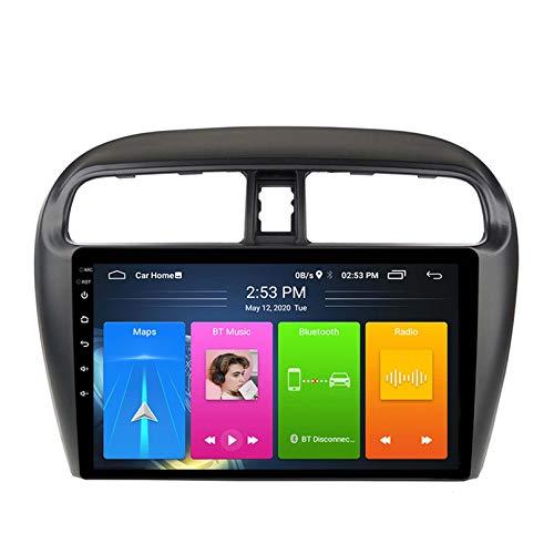 Android 8.1 Radio Para Automóvil Para Mitsubishi Mirage Athion 2012-2018 Coche Coche Estéreo GPS Navegación Táctil Pantalla Coche Player Doble Din Head Unit Support WiFi Volante Cont(Color:WIFI:1+16G)