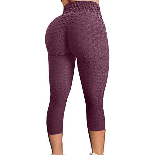 acction Scrunch Butt Yoga Pantalones de Cintura Alta Deporte Entrenamiento Leggings Pantalones Control de Barriga Medias Ejercicio Fitness Correr Pantalones de Yoga
