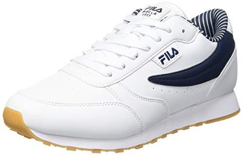 FILA Orbit F men zapatilla Hombre, blanco (White/Fila Navy), 42 EU