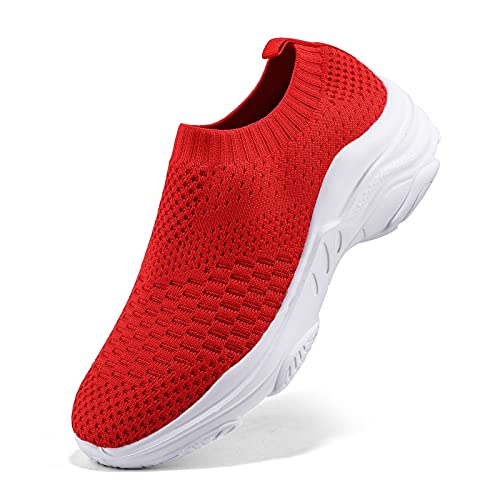 Air Zapatillas de Running para Mujer Zapatos para Correr y Asfalto Aire Libre y Deportes Calzado Ligero Sneakers, Rojo 1, 40 EU