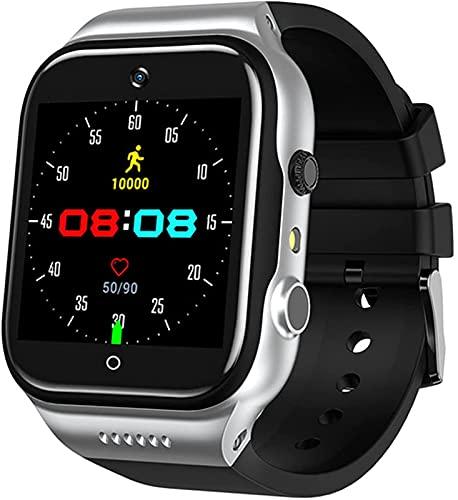 ALXLX WiFi Smart Watch GPS Men's Sim Card Cámara Teléfono Móvil 4g Internet 1.54 Pulgadas HD Video Call Grabación Multifunción Reloj X89, A