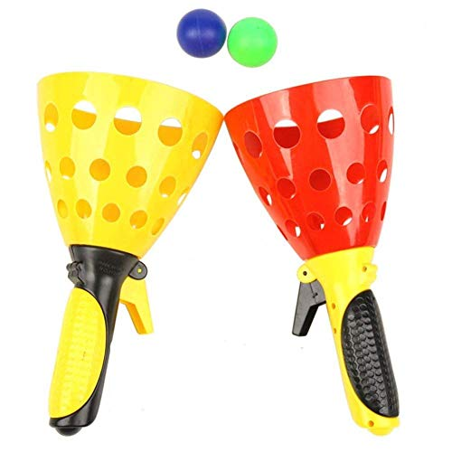 FunBlast Click and Catch Twin Ball Game Indoor Outdoor Toy Set, Pop & Catch Ball Play Fun Boys & Girls (Color May Vary)