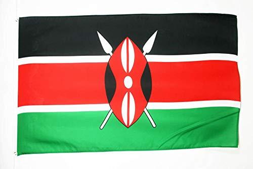AZ FLAG Flagge Kenia 150x90cm - KENIANISCHE Fahne 90 x 150 cm - flaggen Top Qualität