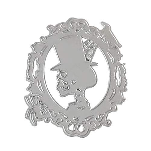Halloween Ghost Man Stanzformen Metall Stanzformen Ausstechformen für Karten-Herstellung Supplies Schablone DIY Scrapbooking Album Stempel Papier Karte Prägung Craft Decor
