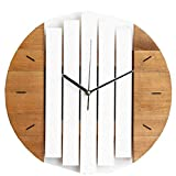 xutingting Wall Clocks Natural Wood Modern Design Chic Quiet Art Watch Home Decoration 12 Inch ClockSilent Battery Operated Decorative Clock