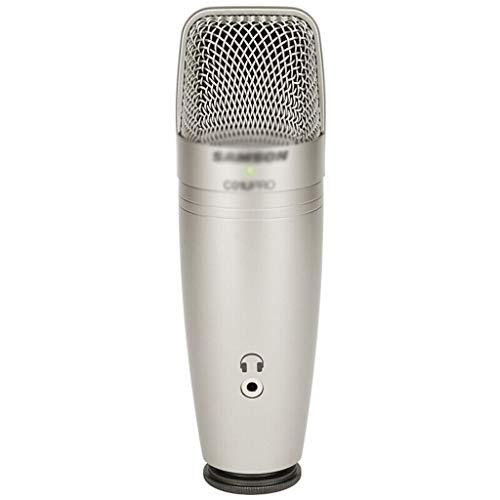 WJTMY Micrófono Condensador de Estudio USB Samson con monitoreo en Tiempo Real...
