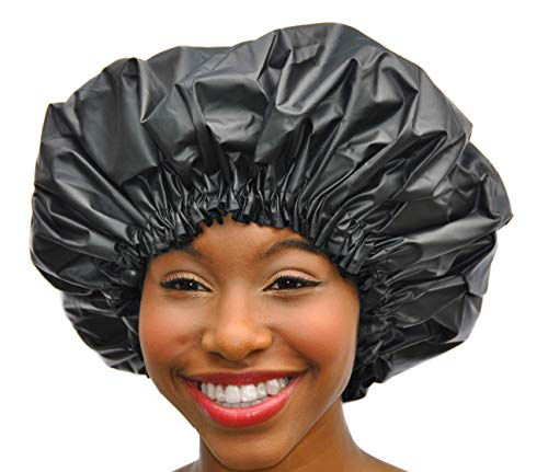 XL Shower Cap - Adjustable & WaterProof By Simply Elegant: The Satin Dream Jumbo ShowerCap X-Large...