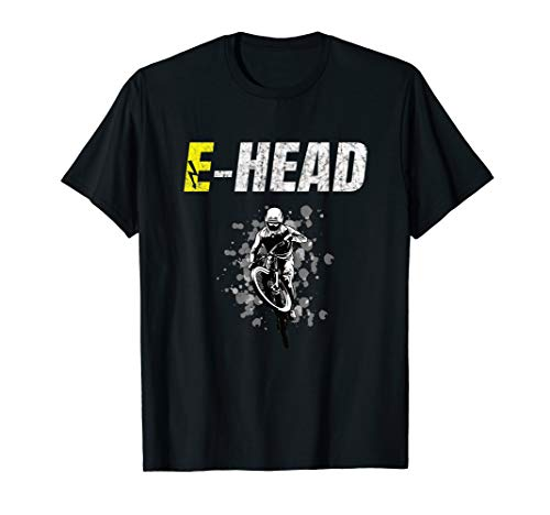 E-Head Ebike Pedelec Electric Battery Bike EMTB cycle T-Shirt