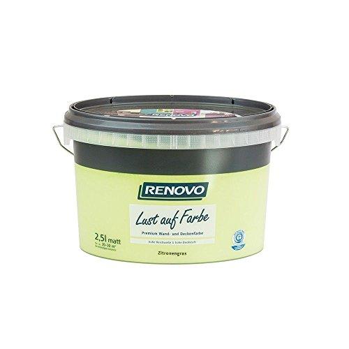 Trendfarbe Zitronengrass 2,5 L Renovo Lust auf Farbe - Wandfarbe Deckenfarbe