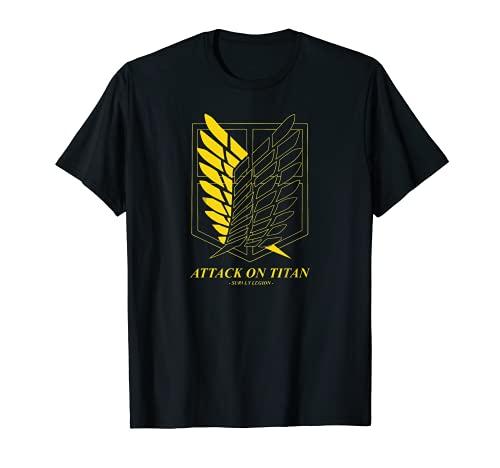 Ataques de arte retro titanes, anime esencial Camiseta