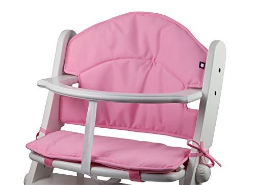 Tinydo Hochstuhl-Sitzkissen optimal für Geuther und alle ähnlichen Treppenhochstühle (rosa)