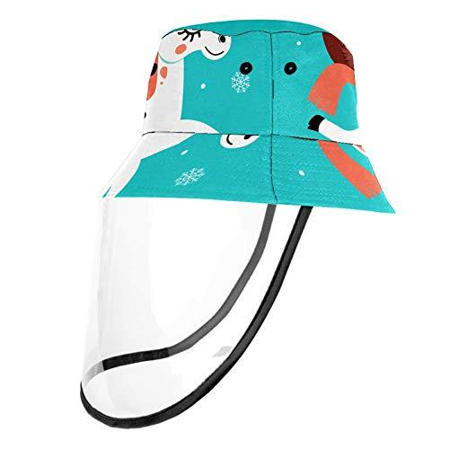 TIZORAX - Cappellino protettivo a forma di unicorno e Babbo Natale con protezione per naso e bocca con protezione antipolvere per adulti e bambini