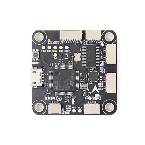 TCMMRC FC F4 Flight Controller 2-6S MPU6000 Black Box Barometer BEC 10V 1A for FPV Racing Drone 30.5x30.5mm