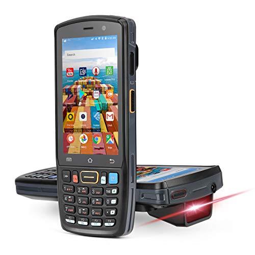MUNBYN PDA Android 9.0 Zebra Escáner Código de Barras 2D Terminal de Mano 4G/ GPS/WiFi/NFC, IP67 para Almacén Hosteleria Logística