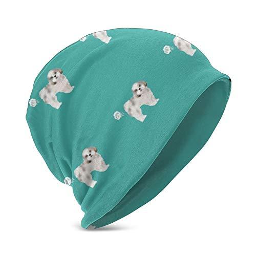 Shih Tzu Funny Dog Fart Pets Pure Breed Dogs Teal Unisex Baggy Slouchy Beanie Hat Gorra de Calavera cálida