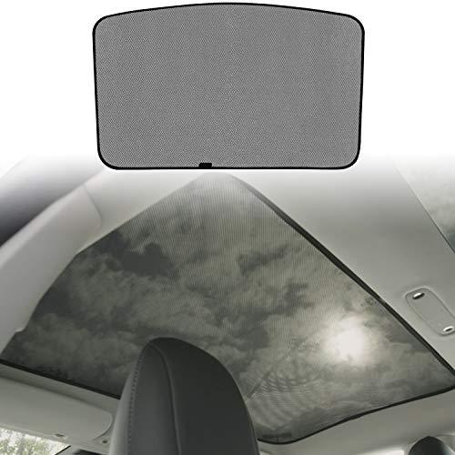 BMZX Model 3 Car Sunroof Shade Foldable Sunshade Heat Isolate Sunshade Sun Shade Above The First Row(Middle Sunroof)
