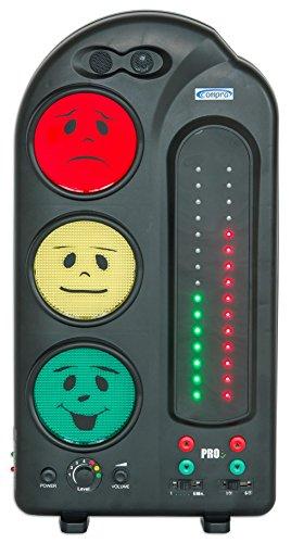 Compra - Lärmampel PRO mit Lärmprotokoll, inkl. Battery-Pack - Anti Lärm Ampel Grundschule Lehrer Zubehör Lautstärke Ampel Ampelsystem Lernampel Lärmpegelmesser Verhaltensampel