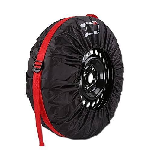 LIUWEI 1 unids Cubierta de neumático de Repuesto Caja de poliéster Invierno y Verano Bolsas de Almacenamiento de neumáticos Automóviles Accesorios de neumáticos Vehículo Protector de Rueda