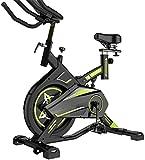 EXCLVEA Bicicletas estáticas Spinning Silent Indoor Bicicletas estáticas Equipo de Fitness para el hogar para Entrenamiento Cardiovascular (Color: Negro Tamaño: 100x54x103cm)-El 100x54x103cm_Negro