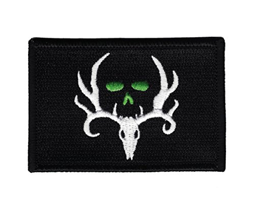 Hook Bone Collector 3x2 Flag - Black & White Patch By Falkon Tactical
