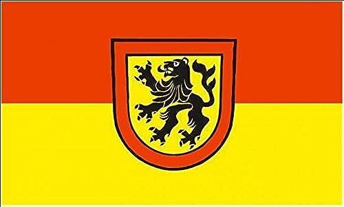 U24Drapeau du Rheinau (Bade-Wurtemberg) haute qualité pour bateau drapeau 120x 180cm