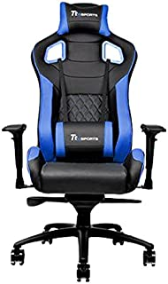 Thermaltake Tt eSPORTS GT Fit F100 Racing Bucket Seat Style Ergonomic Gaming Chair Black/Blue