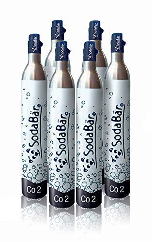 SodaBär© Der kompatible CO2-Zylinder für fast alle Geräte | Praktische Tausch-Box 6 x 425g (60 l) > Volle Zylinder bekommen > leere zurück schicken! Größe 2. Sodastream/SodaTrend