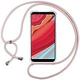 Ingen Funda con Cuerda para Xiaomi Redmi S2/Xiaomi Redmi Y2- Carcasa Transparente TPU Suave Silicona...