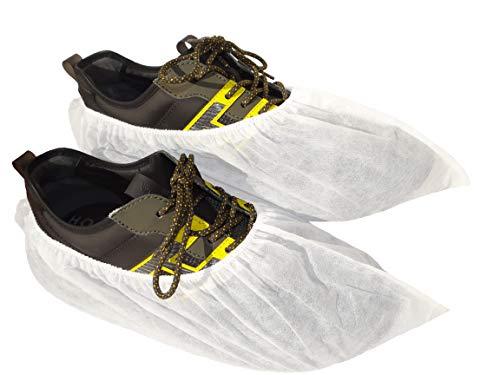 100 Cubrezapatos Desechables Reciclables. Calzas silenciosas antideslizantes. Patucos de tela.