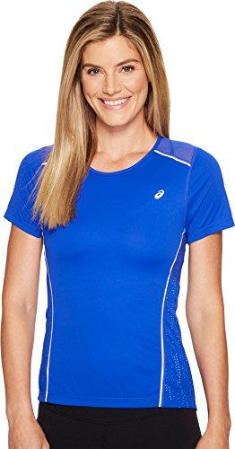 ASICS Lite Show T-Shirt à Manches Courtes pour Femme XS Bleu
