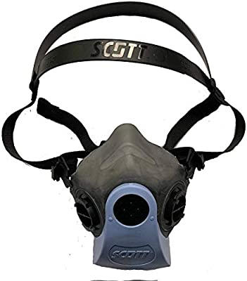 Scott Half Face Mouth Cover Reusable Respirator 7421-413V, Respiratory Protection - Med/Large