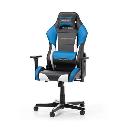 DXRacer Drifting Series D61-NWB Bürostuhl aus Kunstleder, Schwarz-Weiß-Blau